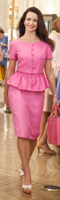 Charlotte York in Pink Skirt Suit in Sex and the City 2