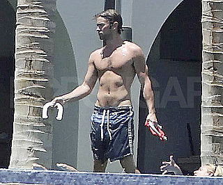 Slide Picture of Shirtless Chace Crawford in Mexico