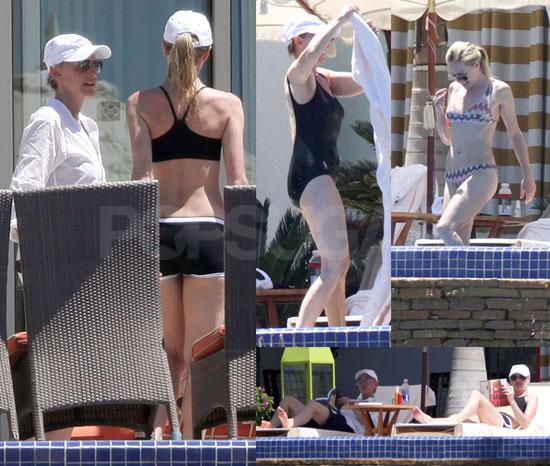 Pictures of Ellen DeGeneres in a Bathing Suit and Portia de Rossi in a Bikini in Mexico