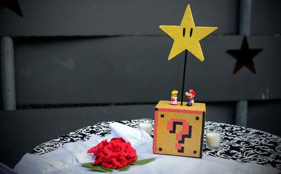 Super Mario Bros. Wedding Centerpieces