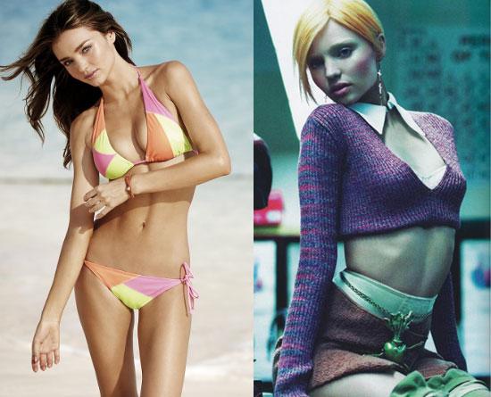 Do You Prefer Miranda Kerr as a Sexy Victoria's Secret or Edgy Model?