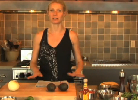 Video of Gwyneth Paltrow Cooking Mexican Food