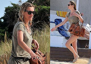 Pictures of Kate Moss Partying With Friends on the Beach in Ibiza