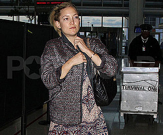 Picture Slide of Kate Hudson Leaving NYC's JFK Airport
