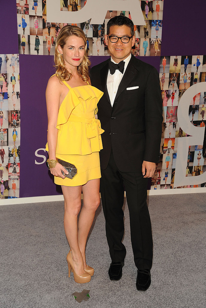 Amanda Hearst in Peter Som, with the designer