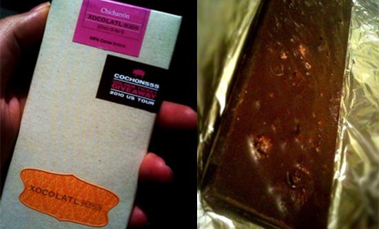 Xocolatl de David's Chicharron Chocolate