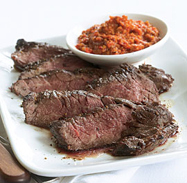 Recipe For Grilled Skirt Steak With Romesco Sauce