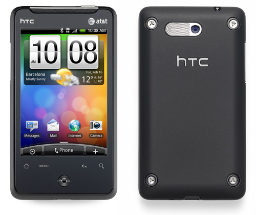 Photos of the HTC Aria Android Phone