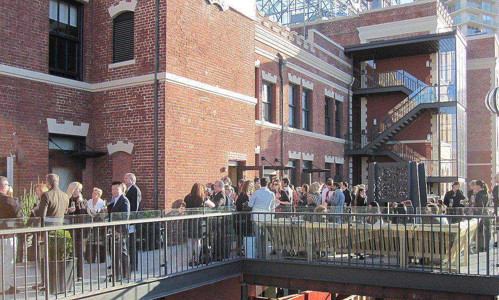 VIP hour took place on a sun-filled balcony in San Francisco's Ghirardelli Square.