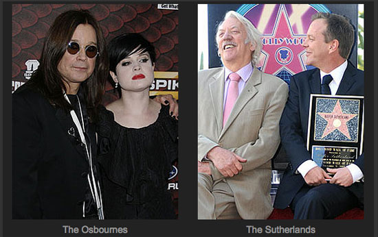Faceoff Game on Celebrity Fathers and Their Famous Children For Father's Day