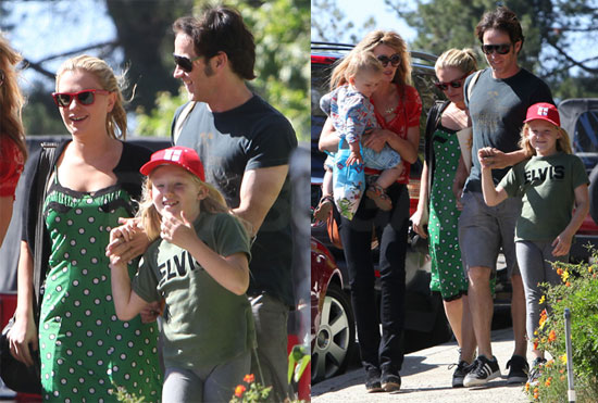 Pictures of True Blood Stars Anna Paquin and Stephen Moyer Attending a Party With His Daughter Lilac