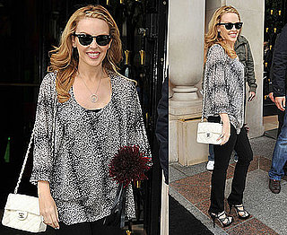 Pictures of Kylie Minogue in Paris as She Reveals She Would Tutor Contestants on The X Factor US Version