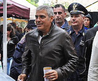 Slide Picture of George Clooney in Italy For The American