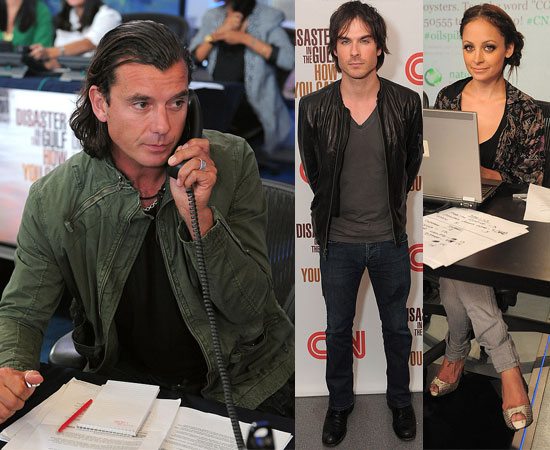 Pictures of Ryan Seacrest, Nicole Richie, Jenny McCarthy, Pete Wentz, Ian Somerhalder, and Alyssa Milano at Gulf Telethon