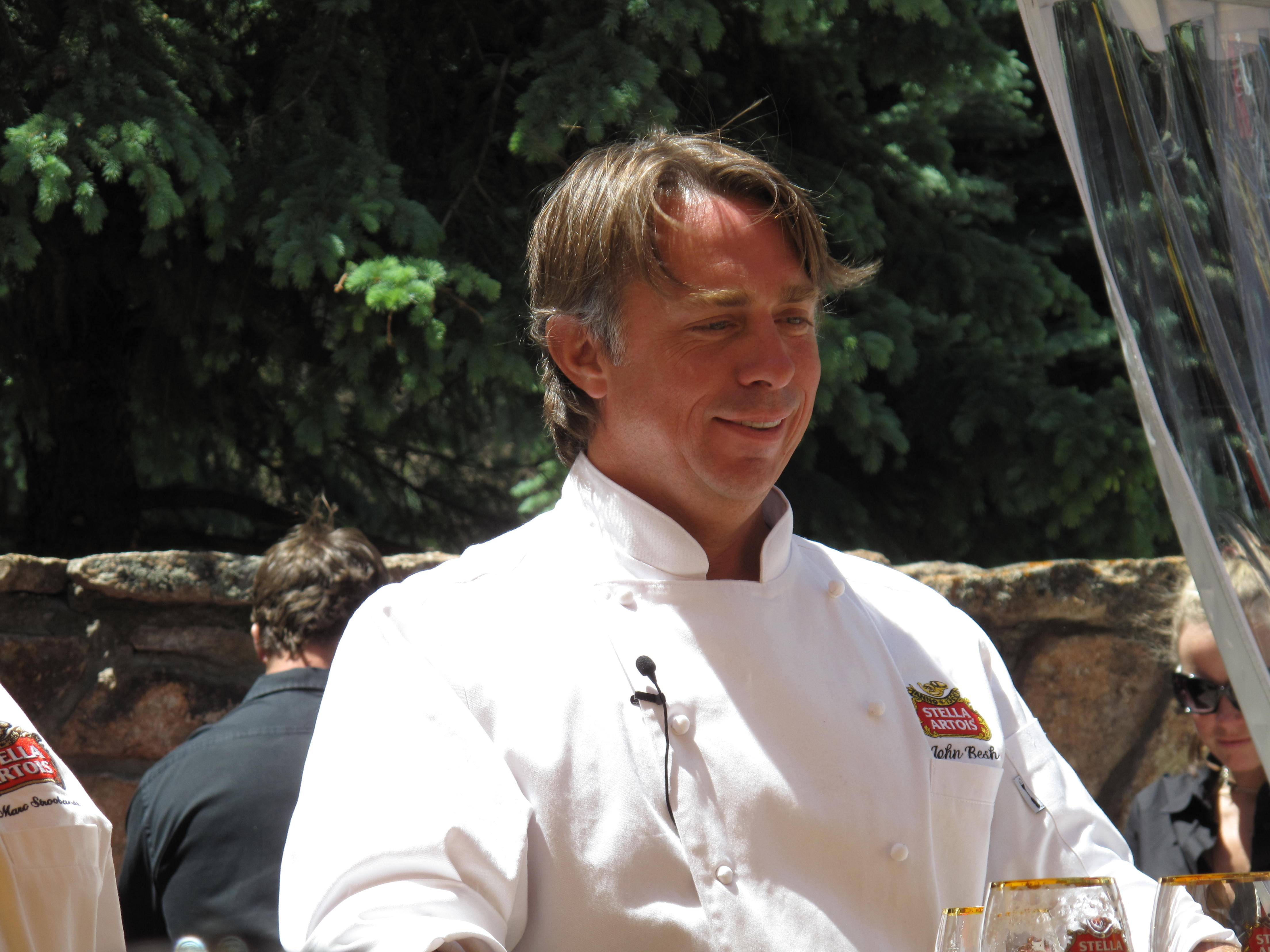 Chef John Besh and his crew drove the crawfish to Aspen from Louisiana. He was promoting his new television show, Inedible to Incredible, which debuted earlier this week.