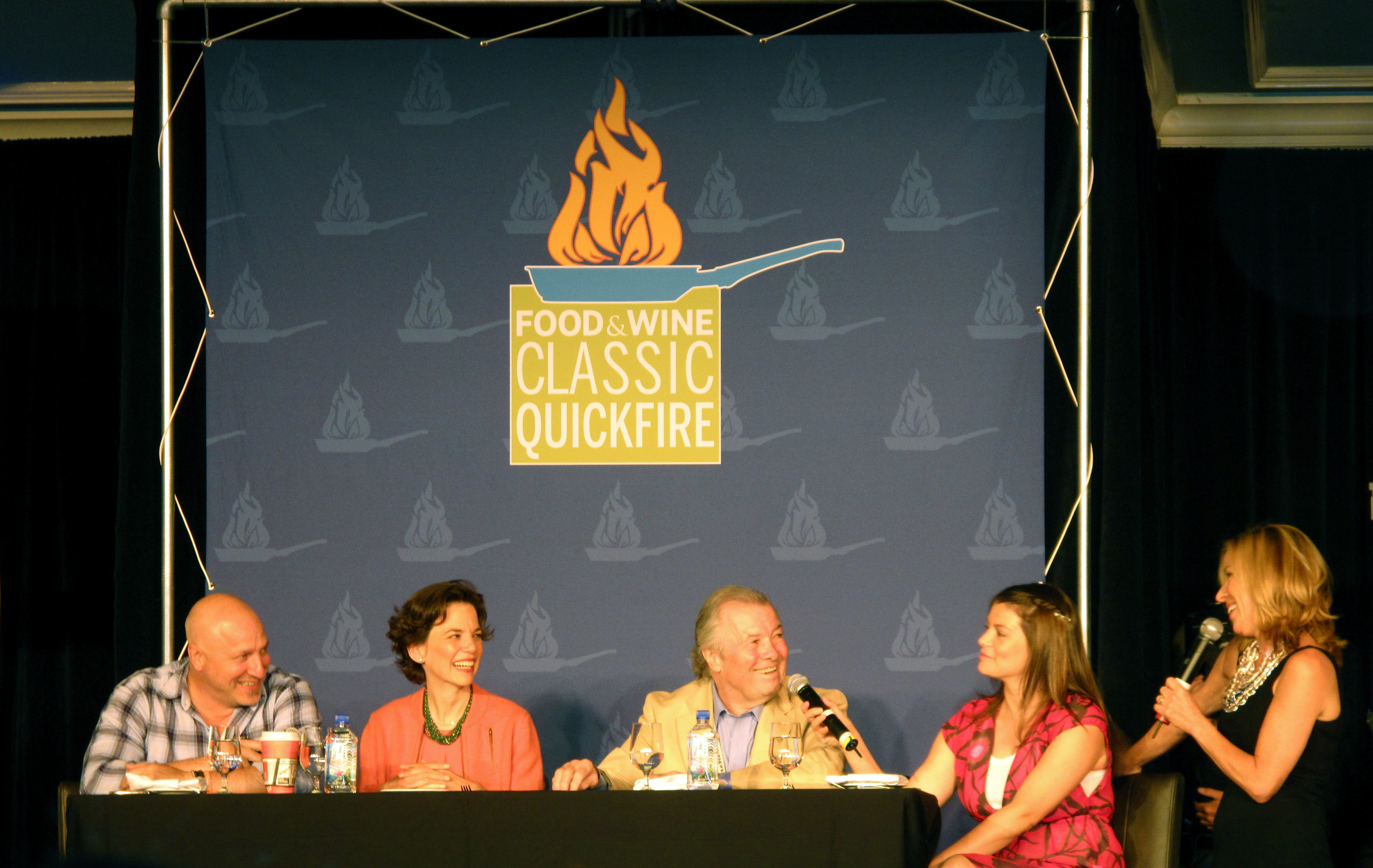 The hilarious, ebullient Sissy Biggers with the four Quickfire panelists.