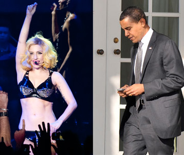 Lady Gaga vs. President Obama on Facebook