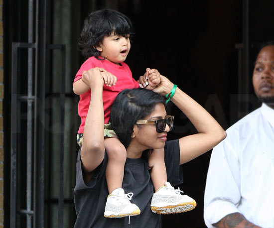 Slide Picture of MIA and Son Ikhyd in New York