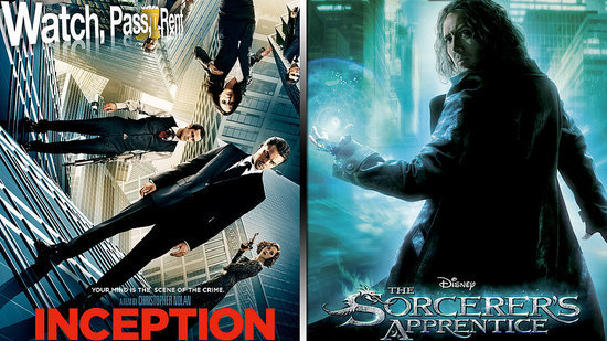 Inception Movie Review and The Sorcerer's Apprentice Movie Review