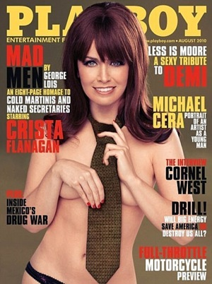 Playboy Cover of Mad Men's Crista Flanagan