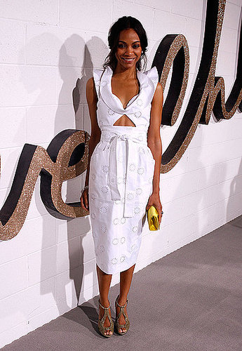 Zoe donned Chloé at the Chloé soiree in LA.