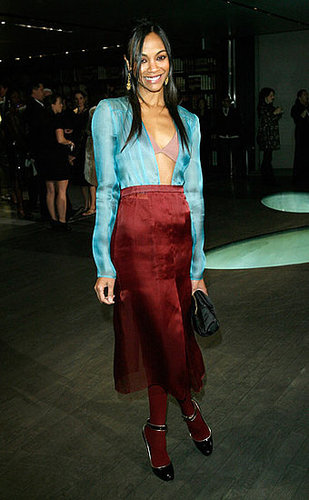 Eccentric Zoe wearing Prada at a Prada party in '09 — which Prada girl do you prefer?
