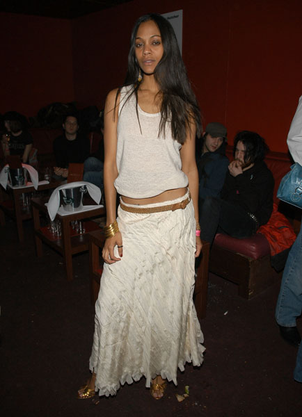 Zoe showed off her bohemian side at the Guess Who afterparty in '05.
