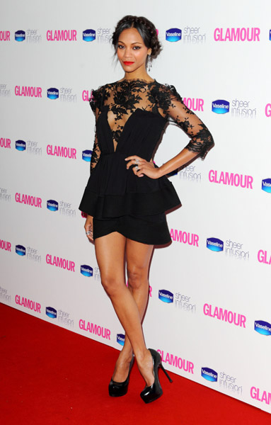 Looking flirty and feminine in a lacy Vionnet dress at the Glamour Women of the Year Awards in London in June 2010.