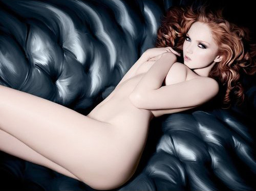 Lily Cole Poses Naked on New Rankin Fashion Book