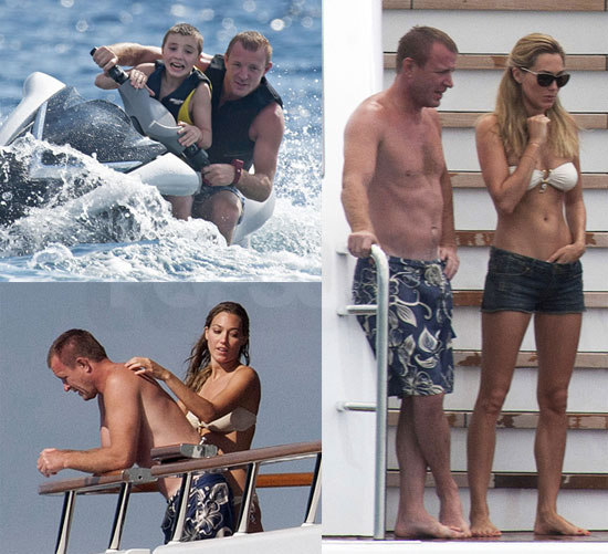 Pictures of Shirtless Guy Ritchie Vacationing With Rocco and Girlfriend Jacqui