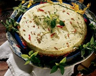 Recipe for Savory Basil Cheesecake