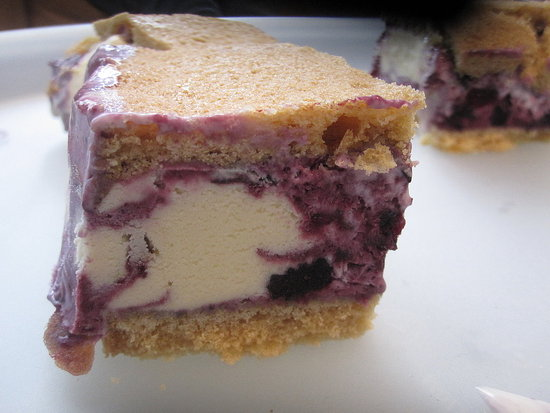 Ice Cream Sandwiches With Blueberry Swirl