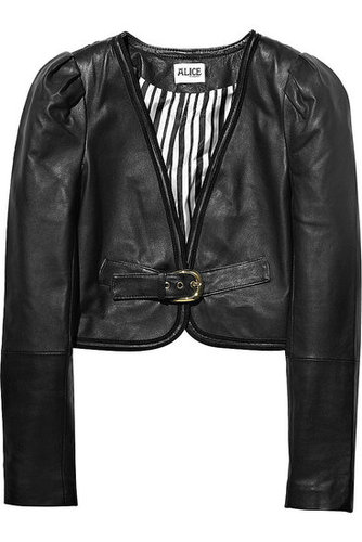 ALICE by Temperley|Corsica cropped leather jacket|NET 525