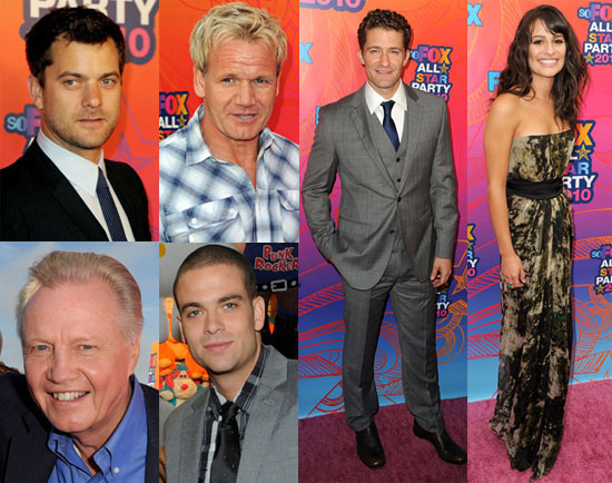 Joshua Jackson, Lea Michele, Jon Voight and the cast of Glee at the Fox TCA