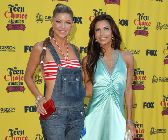 Fergie and Eva Longoria got together on the red carpet in 2005.