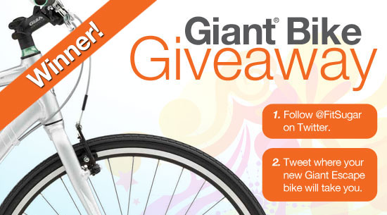 Winner of FitSugar's Giant Bike Giveaway