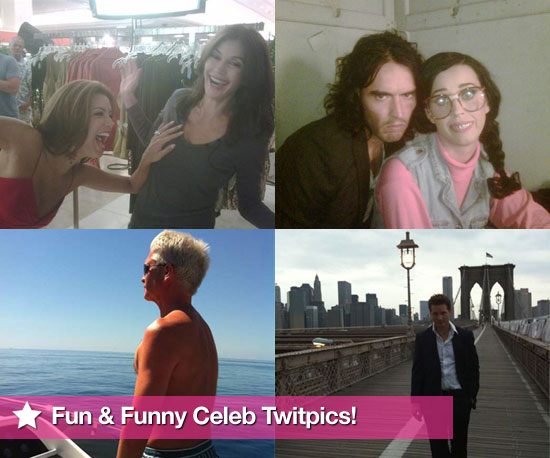 Pictures From Celeb Twitter Accounts Including Russell Brand, Eva Longoria, Peter Facinelli, Philip Schofield and More