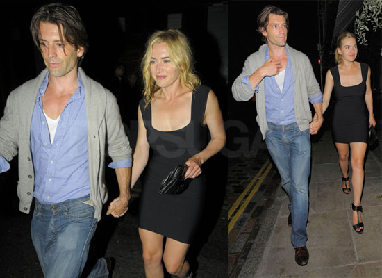 Pictures of Kate Winslet and Louis Dowler in London
