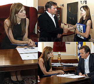 Pictures of Angelina Jolie in Sarajevo