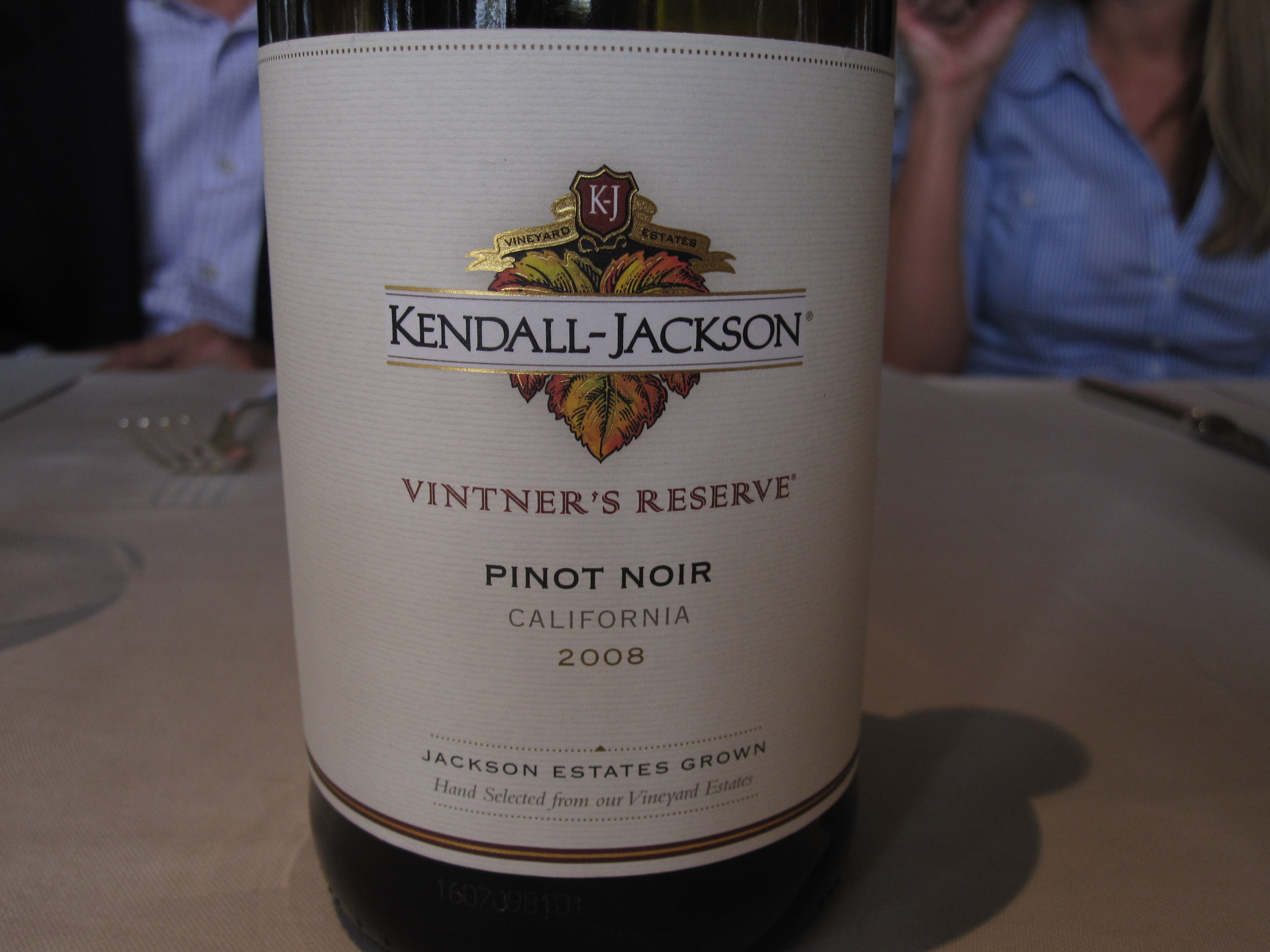 My favorite red was KJ's Vitner's Reserve Pinot Noir.