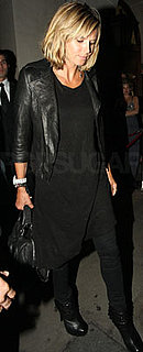 Heidi Klum Wears Black in London