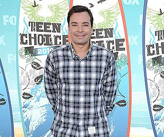 Pictures of Jimmy Fallon Arriving at LAX in a Plaid Shirt