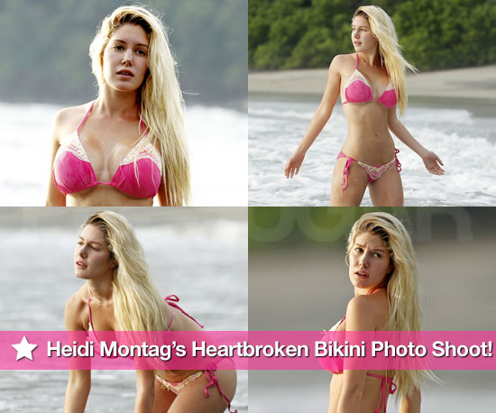 Pictures of Heidi Montag in Bikini With Nose Bandage in Costa Rica