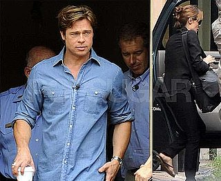 Pictures of Brad Pitt and Angelina Jolie in New Orleans for Hurricane Katrina Five Year Anniversary