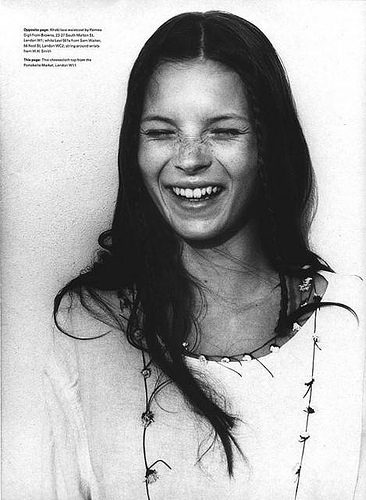 """Kate Moss in """"The Third Summer of Love,""""The Face July 1990"""