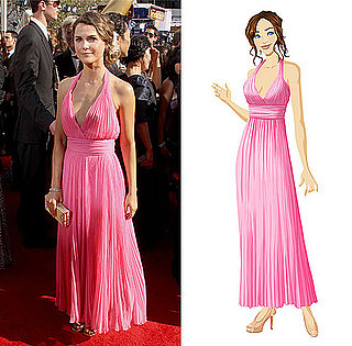 Keri Russell's Pink Gown at the 2010 Primetime Emmy Awards