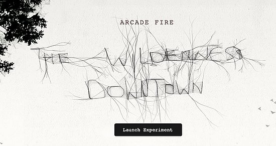 """Arcade Fire's """"The Wilderness Downtown"""" Video Experience"""