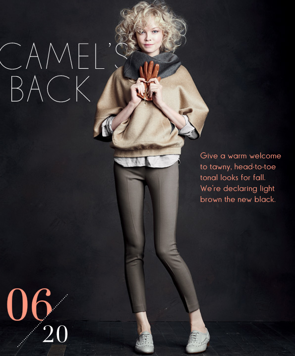 Camel is huge at the moment and this ensemble is a fresh take on it.
