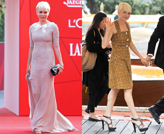 Pictures of Michelle Williams at Meek's Cutoff Premiere at the 2010 Venice Film Festival