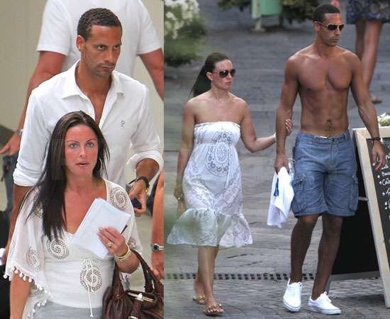 Pictures of Rio Ferdinand Shirtless With Wife in South of France